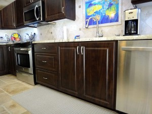 Full height sink cabinet doors