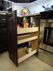 Spice rack pullout